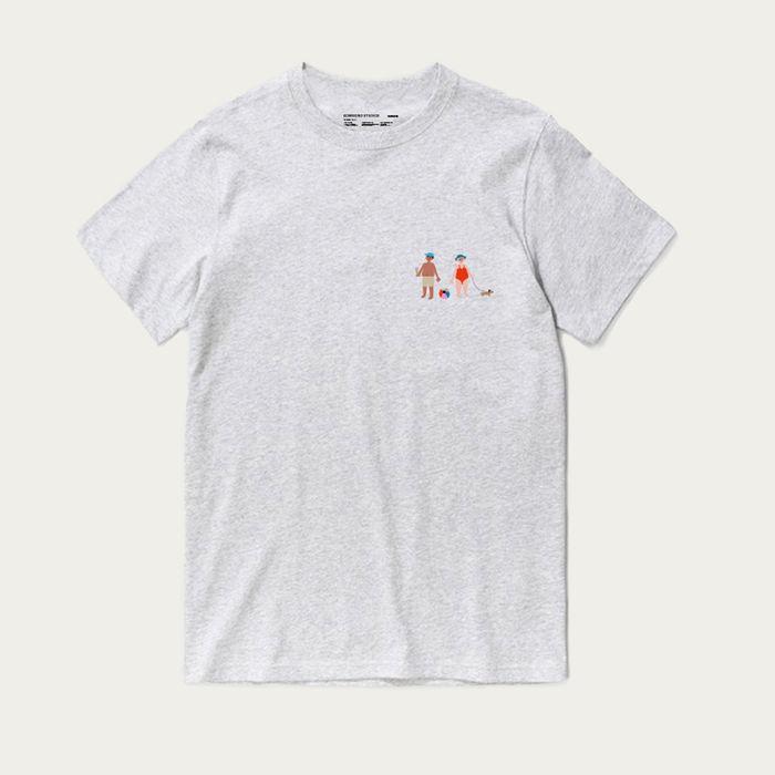 Grey Melange Short Sleeve Grandmother T-shirt | Bombinate