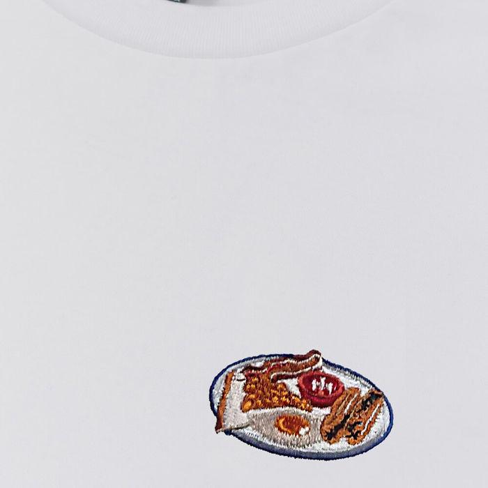 White T Shirt Full English   Bombinate