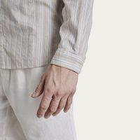 Vintage Pastel Stripe Round Collar Shirt | Bombinate