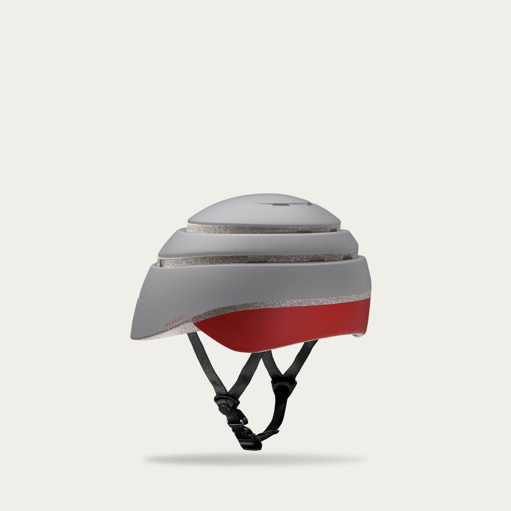 Fossil and Red Wine Loop Helmet    Bombinate