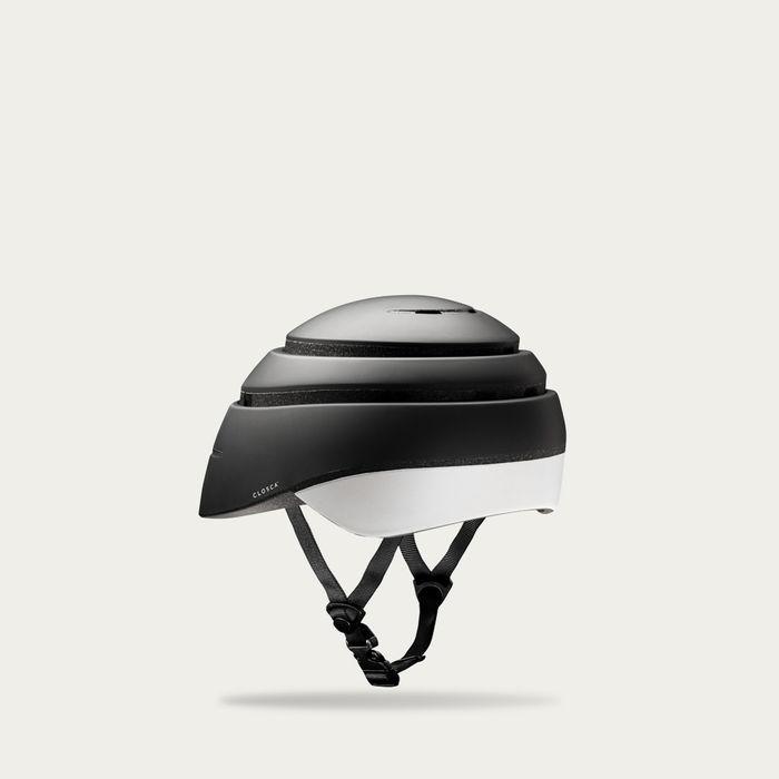 Graphite and White Loop Helmet | Bombinate