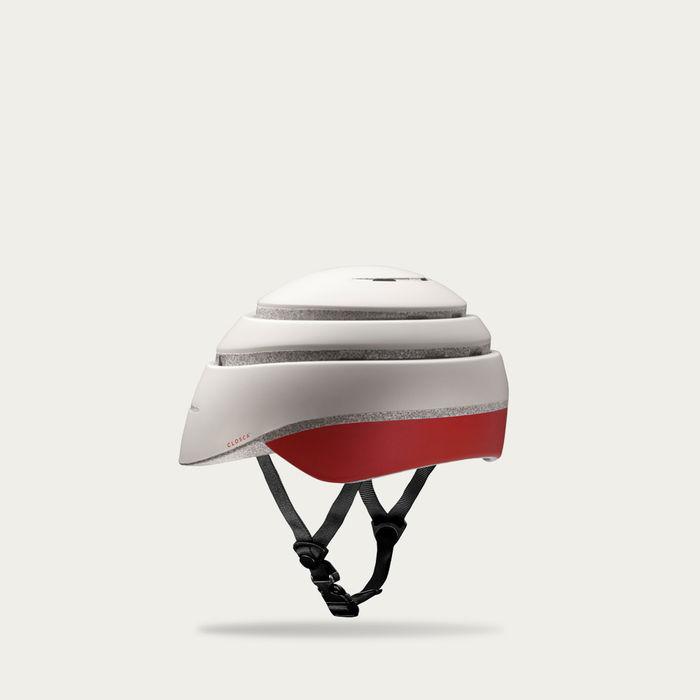 Pearl and Red Wine Loop Helmet | Bombinate