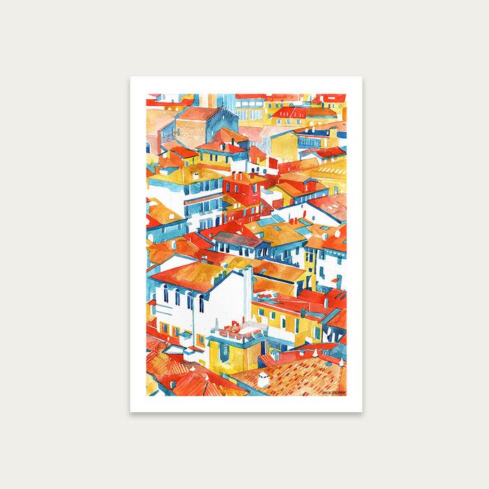 Verona Ulice Art Print Unframed | Bombinate