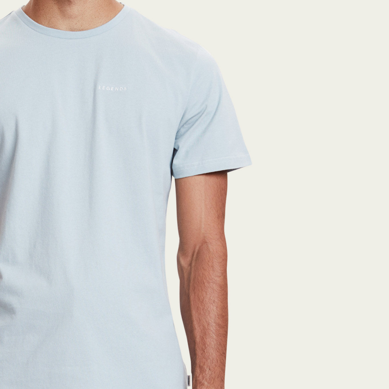 Dusty Blue Venice Embroided T-shirt  | Bombinate