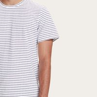 White Striped Fiji T-shirt | Bombinate