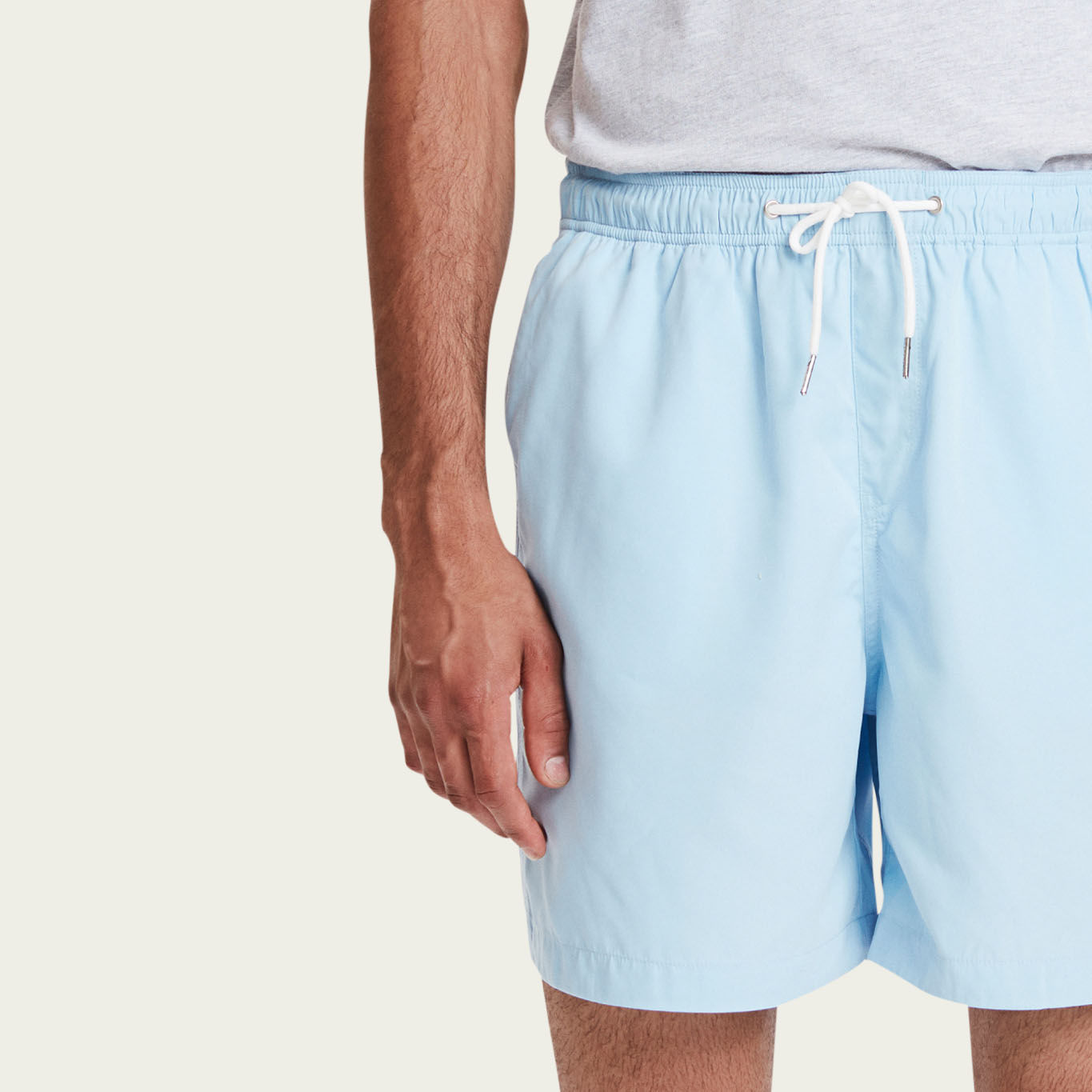 Dusty Blue Pool Shorts | Bombinate
