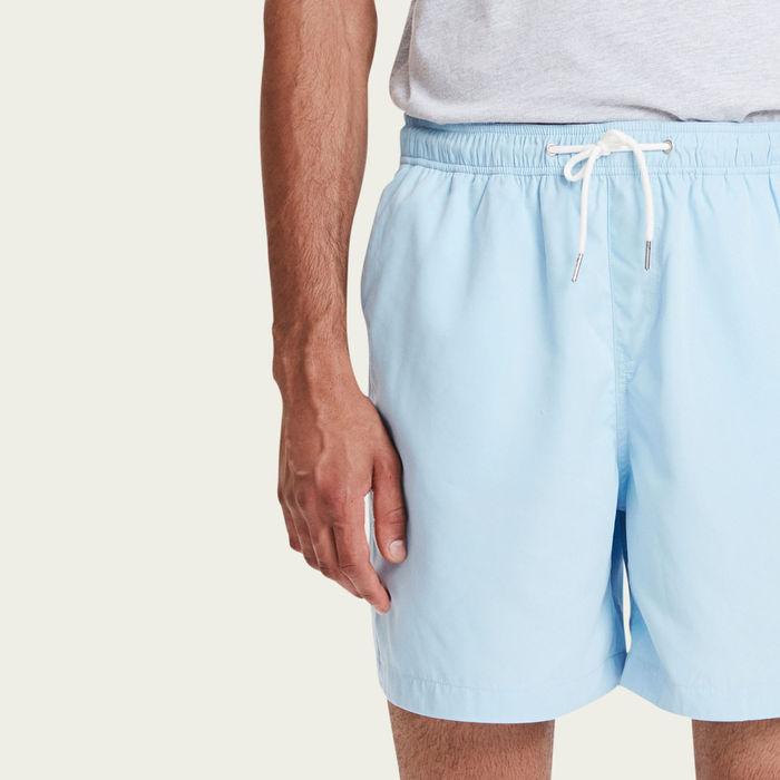 Dusty Blue Pool Shorts | Bombinate