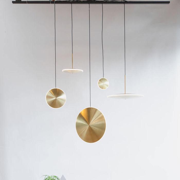 Brass Chrona Dish6h Pendant | Bombinate