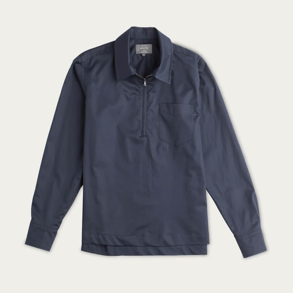 Navy Half Zip Cabin Shirt   Bombinate