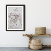 Blossoms in The Field Art Print Black Frame | Bombinate