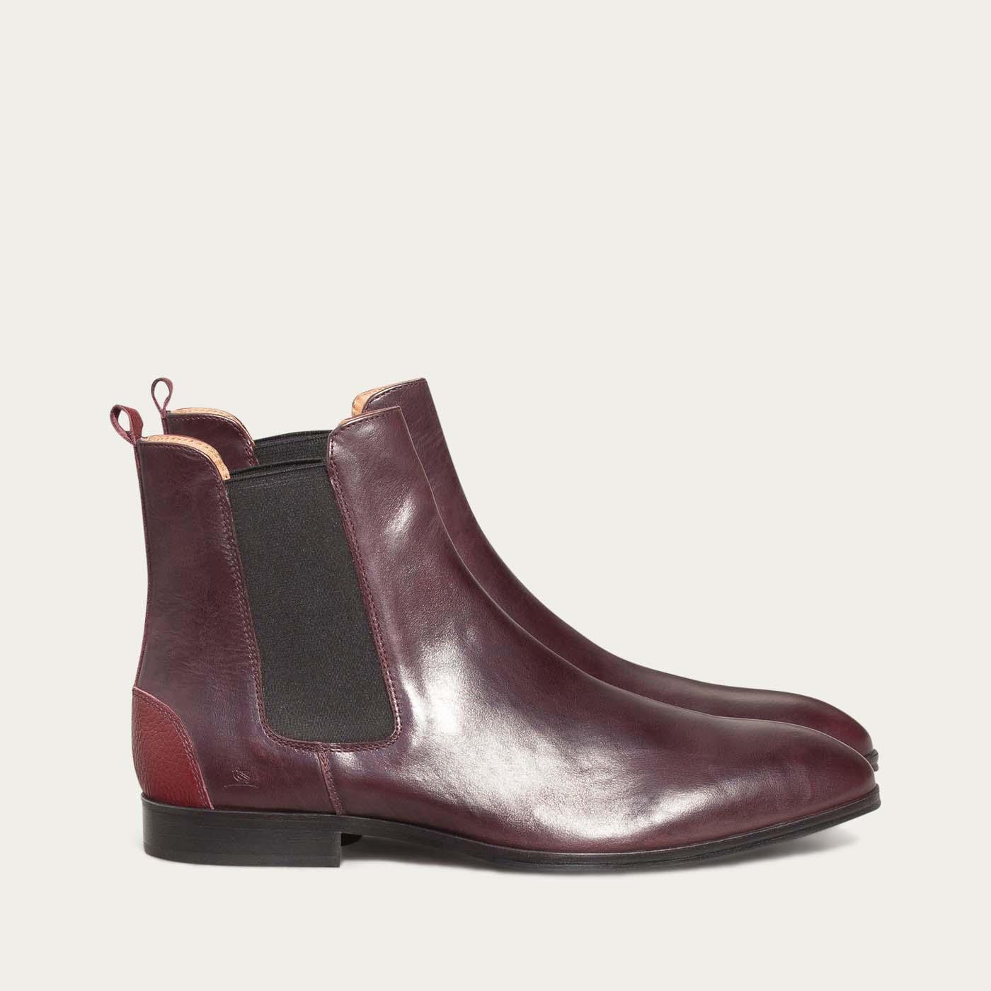 Burgundy Fischer Boots | Bombinate