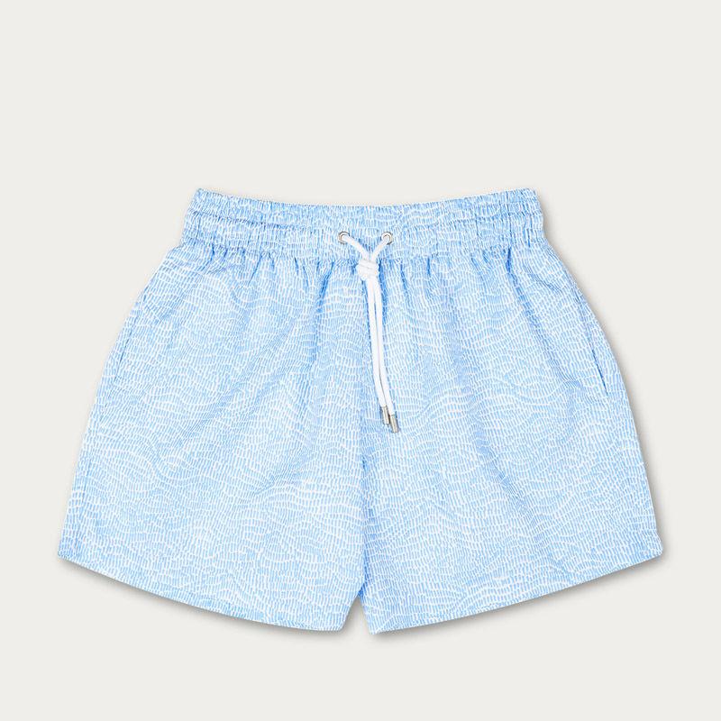 Light Blue Ecailles Swim Short | Bombinate