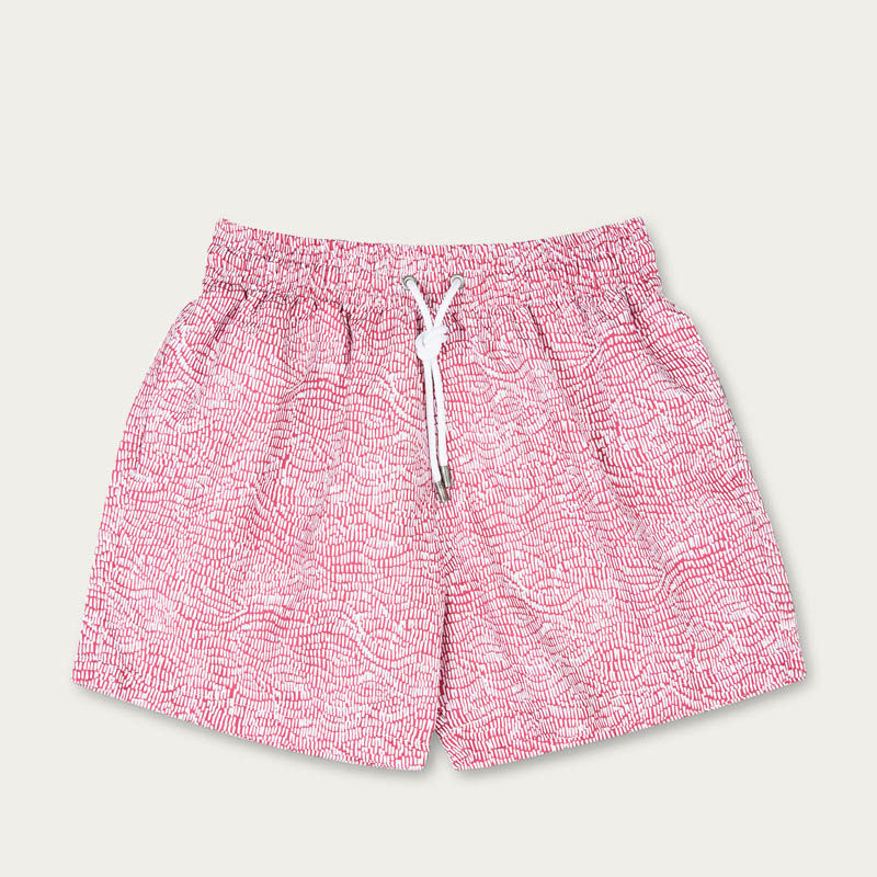 Pink Ecailles Swim Short | Bombinate