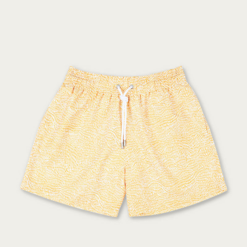 Mustard Ecailles Swim Short | Bombinate