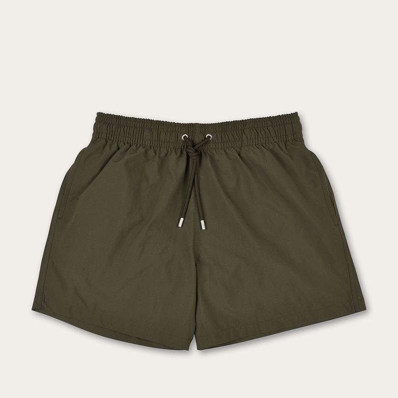 Khaki Plain Colour Swim Short | Bombinate