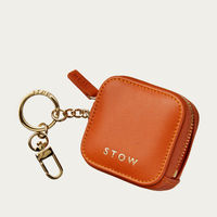 Amber Orange/Soft Sand Clip-On Earphone Case | Bombinate