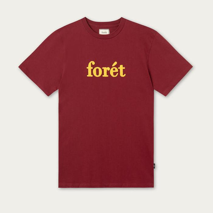 Wine/Tan Log T-Shirt | Bombinate