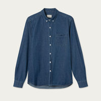 Dark Navy Denim Walker Shirt | Bombinate