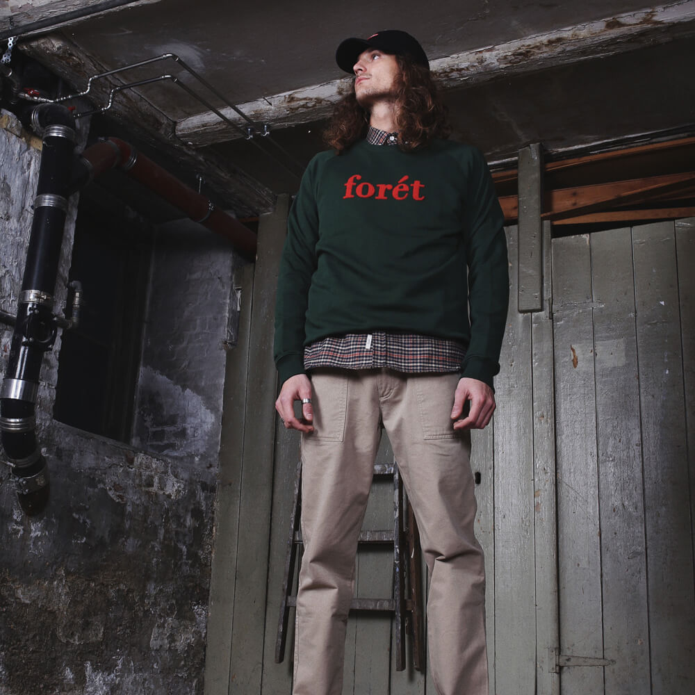 Dark Green/Red Spruce Sweatshirt | Bombinate