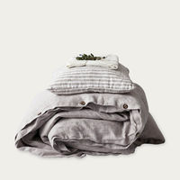 Melange Washed Linen Duvet Cover | Bombinate