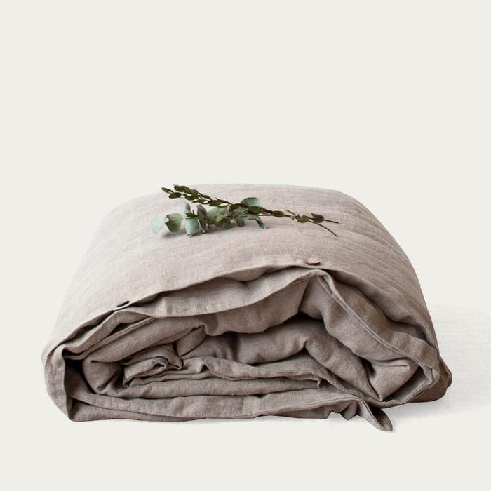 Natural Washed Linen Duvet Cover | Bombinate