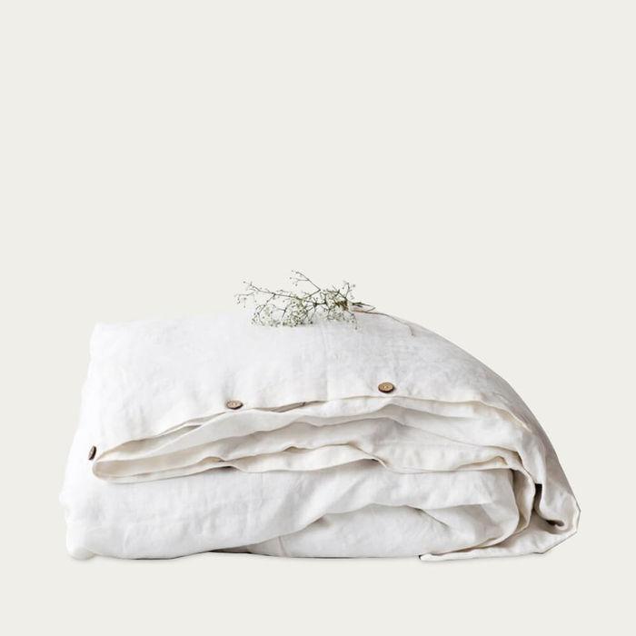 White Washed Linen Duvet Cover | Bombinate