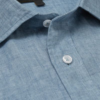 Blue Linen Safari Shirt   Bombinate