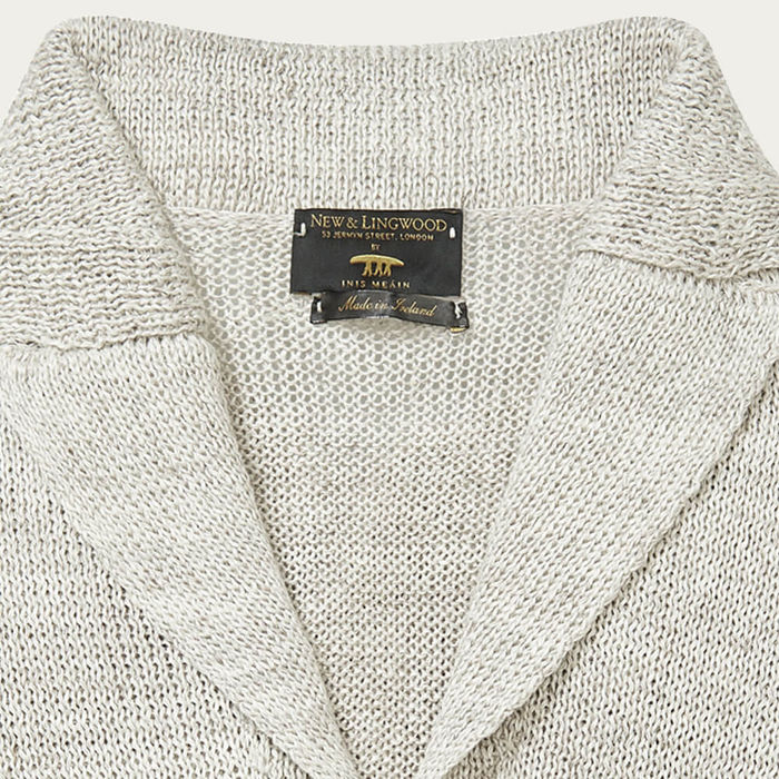 Sand Linen Knitted Jacket | Bombinate