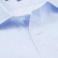 Blue/White Stripe Tailored Fit Shirt   Bombinate