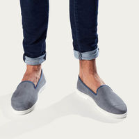 Cool Grey Men's Espadrille Slip-On Leather | Bombinate