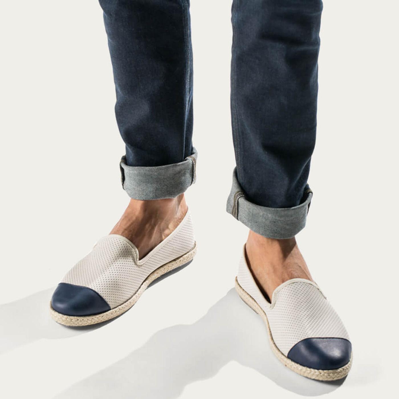 Dual Men's Espadrille Slip-On Leather | Bombinate