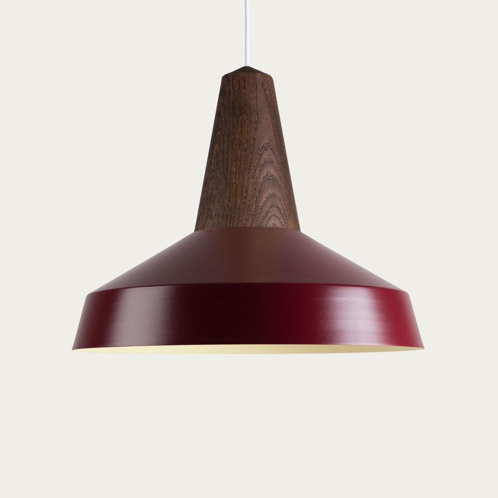Burgundy Eikon Circus Black Oak Lamp   Bombinate