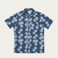 Blue Shell Cotton Blend Shirt   Bombinate