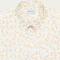 White Swimmers Cotton Blend Shirt | Bombinate