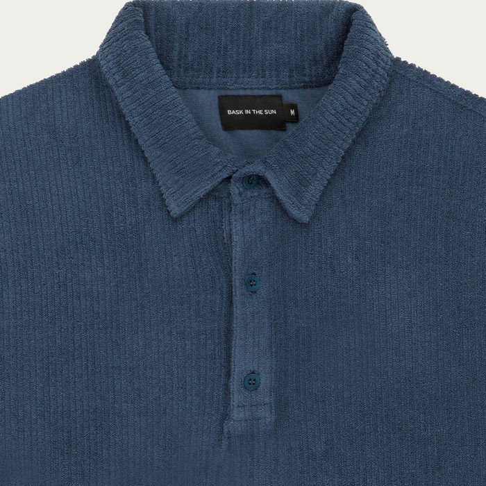 Indigo Xan Cotton Polo Shirt   Bombinate