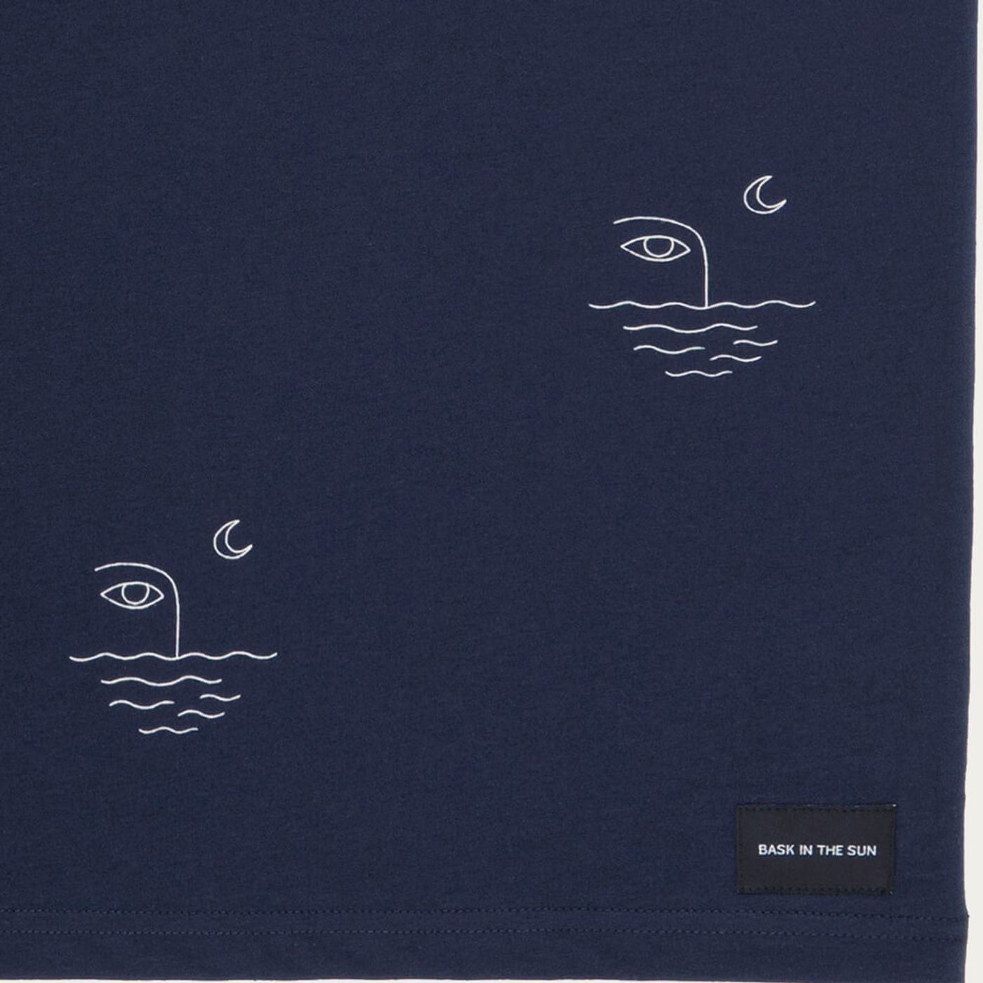 Navy Moon Cotton T-Shirt | Bombinate