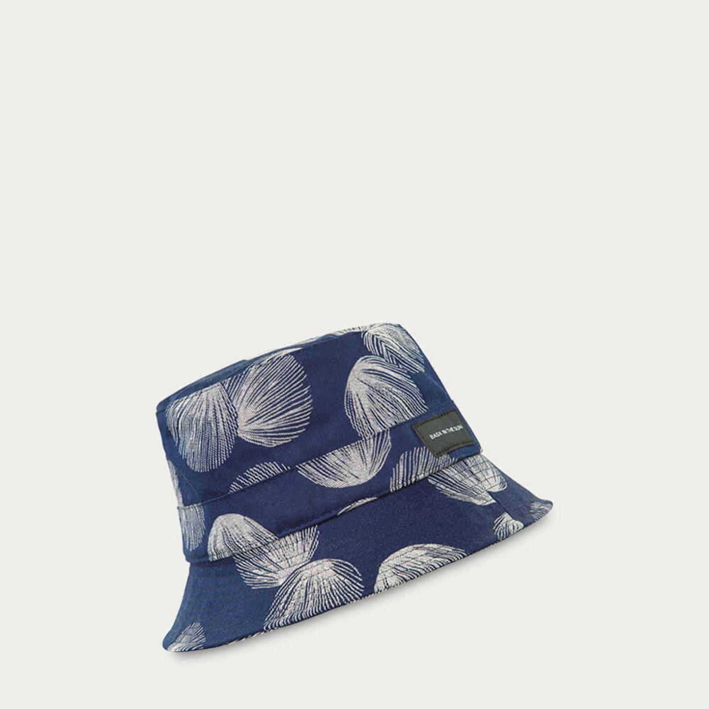 Navy Shell Bucket Hat   Bombinate