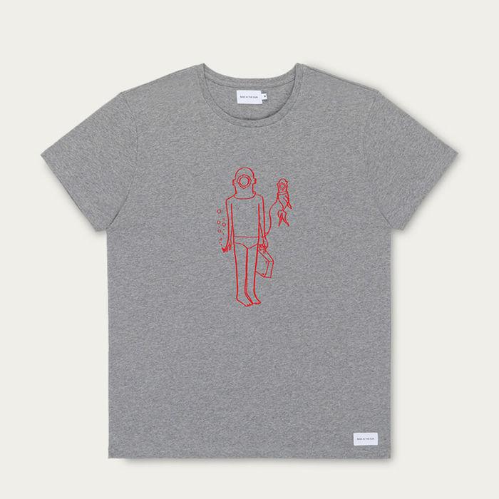 Grey Best Friends Cotton T-Shirt   Bombinate