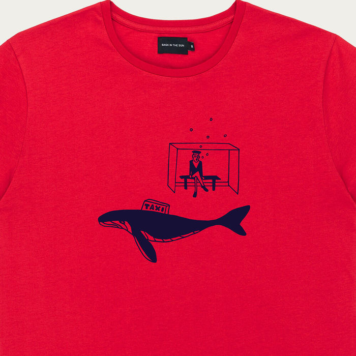 Red Taxi Cotton T-Shirt | Bombinate