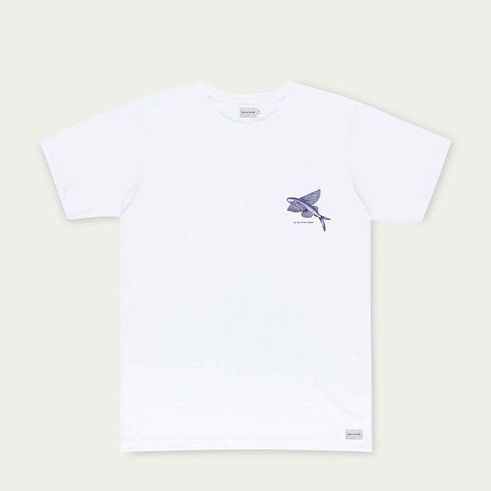 Natural Flying Fish Cotton T-Shirt | Bombinate