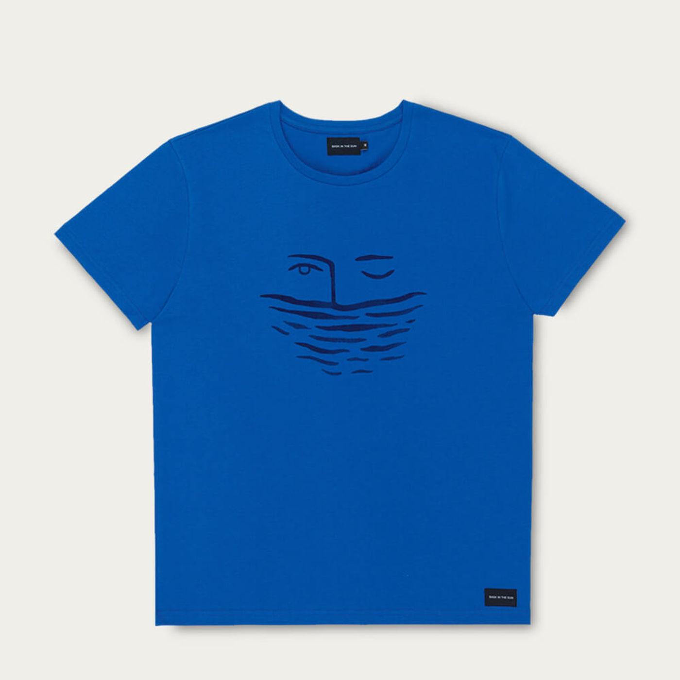Cobalt Underwater Cotton T-Shirt | Bombinate