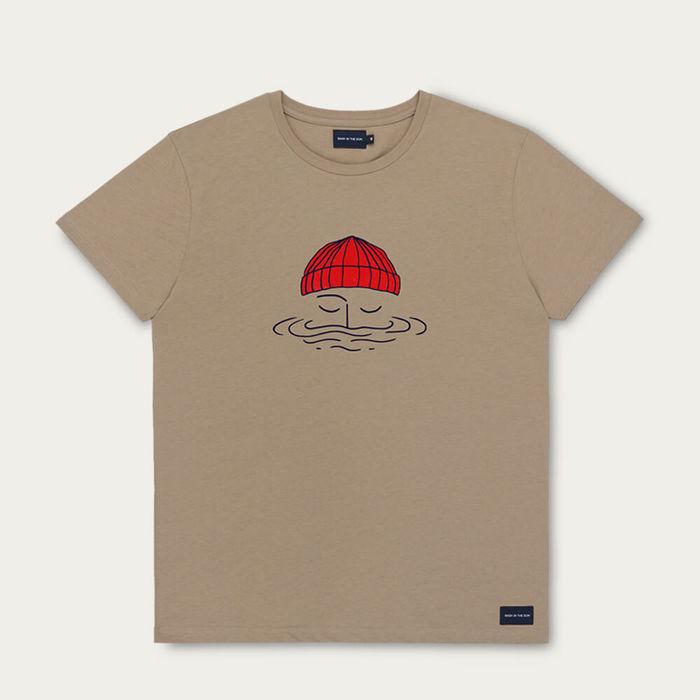 Tobacco Sailor Cotton T-Shirt | Bombinate