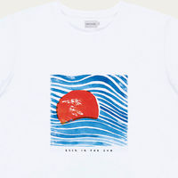Natural Sunset Cotton T-Shirt | Bombinate