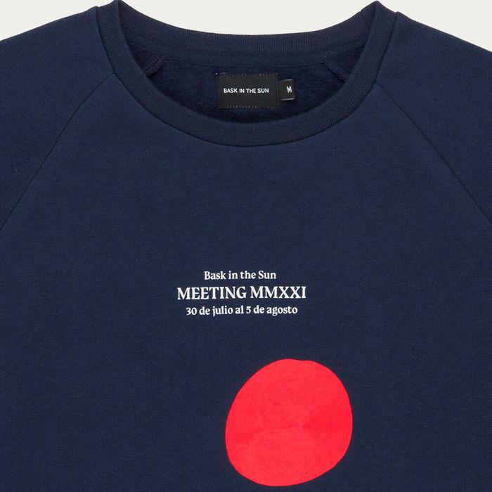 Navy Meeting Cotton Sweatshirt   Bombinate