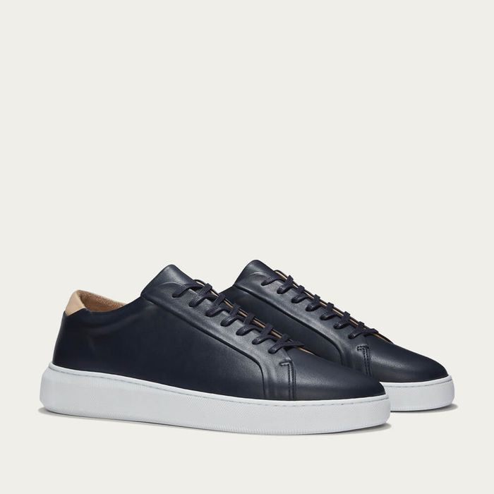Navy Series 8 Leather Sneakers | Bombinate