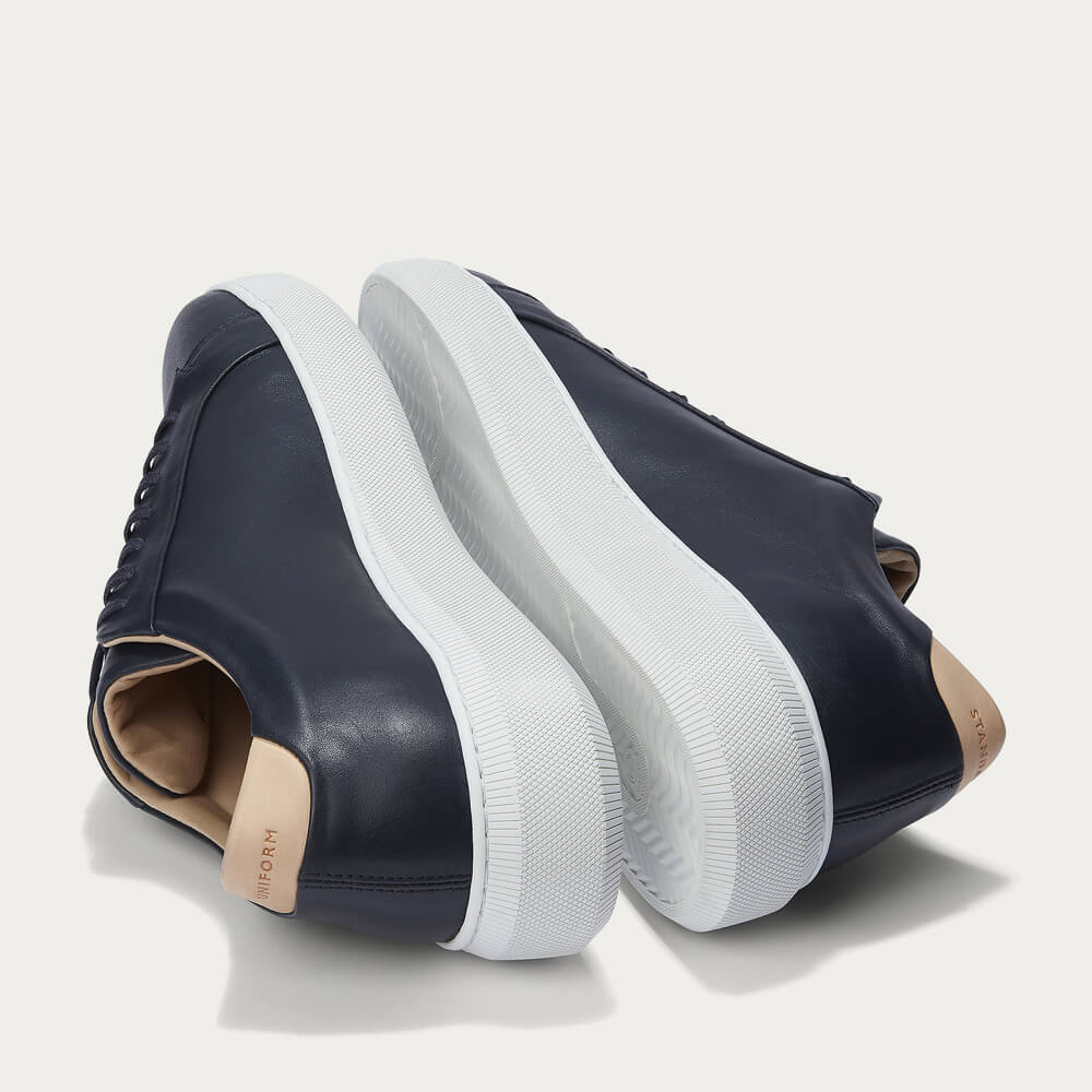 Navy Series 8 Leather Sneakers   Bombinate