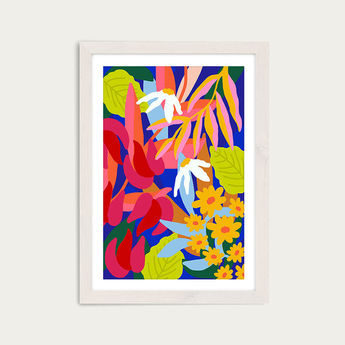 Heal Your Soul Floral Art Print White Frame | Bombinate