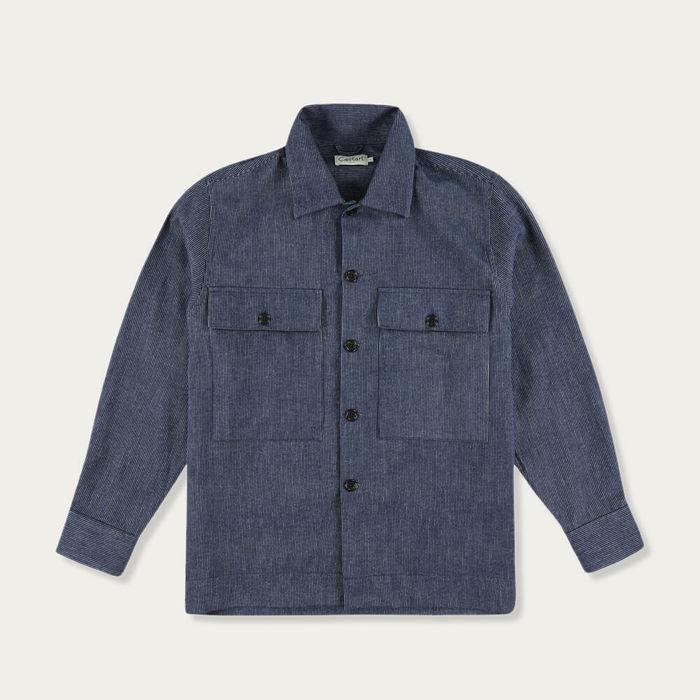 Navy Blue Leon Overshirt | Bombinate