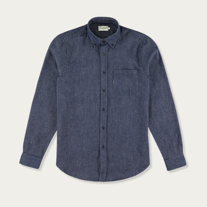 Navy Blue Freud Shirt   Bombinate