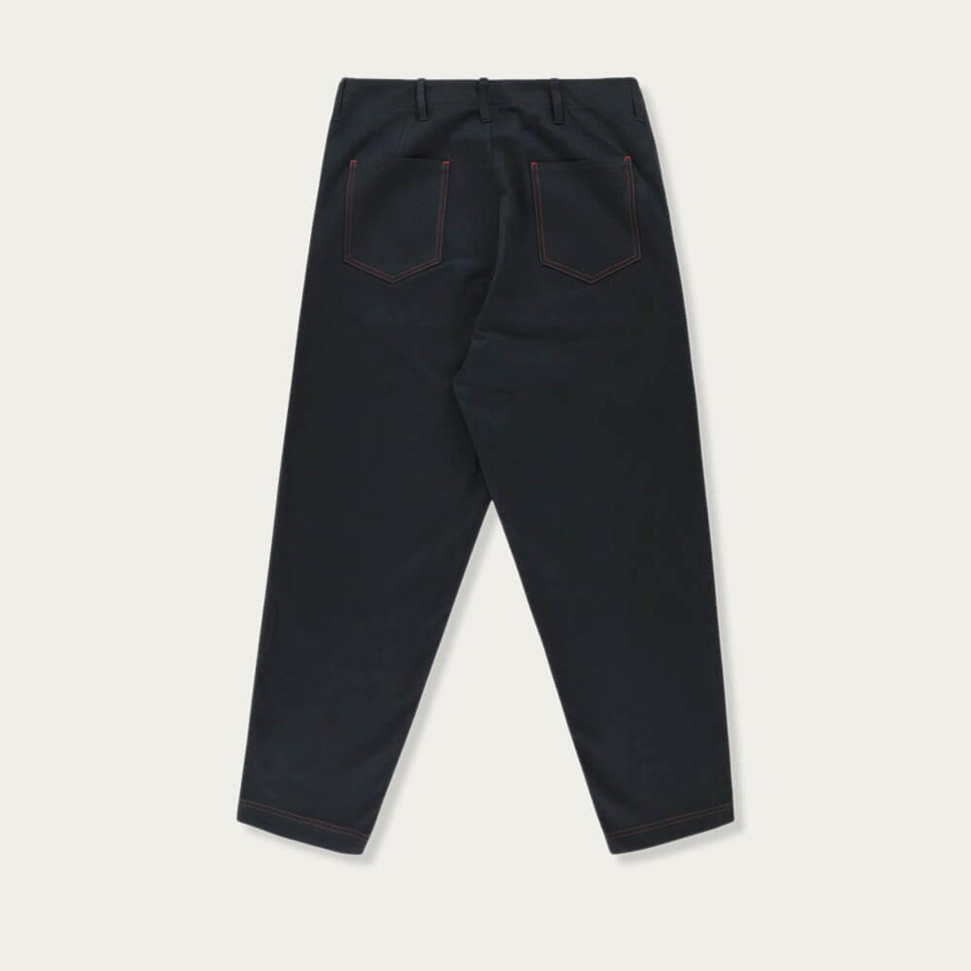 Navy Blue Hockney Tapered Pants   Bombinate